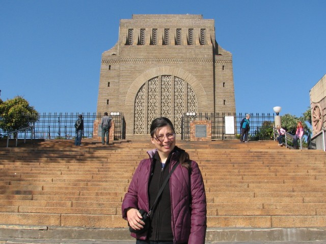 In front of the Voortrekker Monument, and the first flight of stairs I climbed to get to the top. © Colline Kook-Chun, 2012