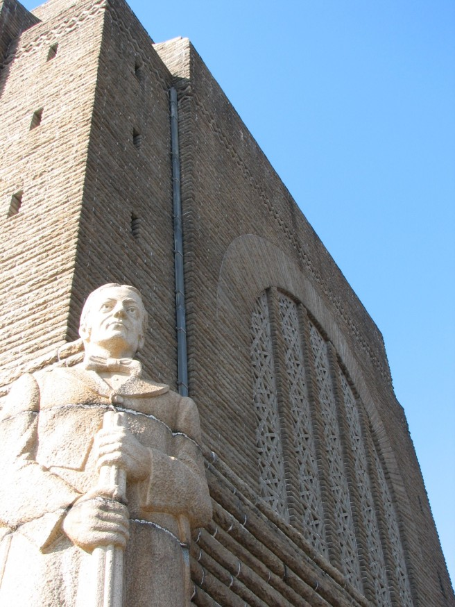 A statue on a corner of the monument. © Colline Kook-Chun, 2012