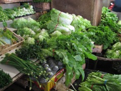 The vegetable market in Port Louis, Mauritius.