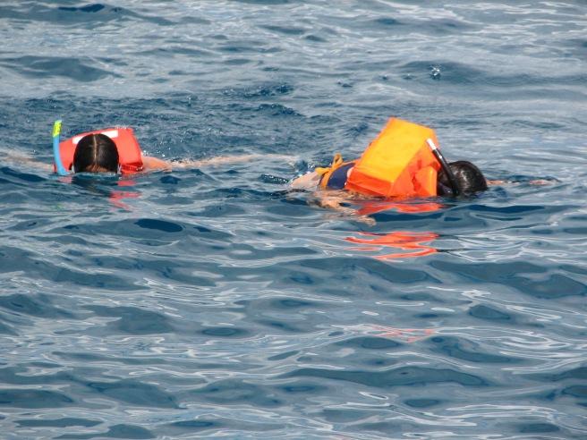 Snorkelling in the ocean. © Colline Kook-Chun, 2013
