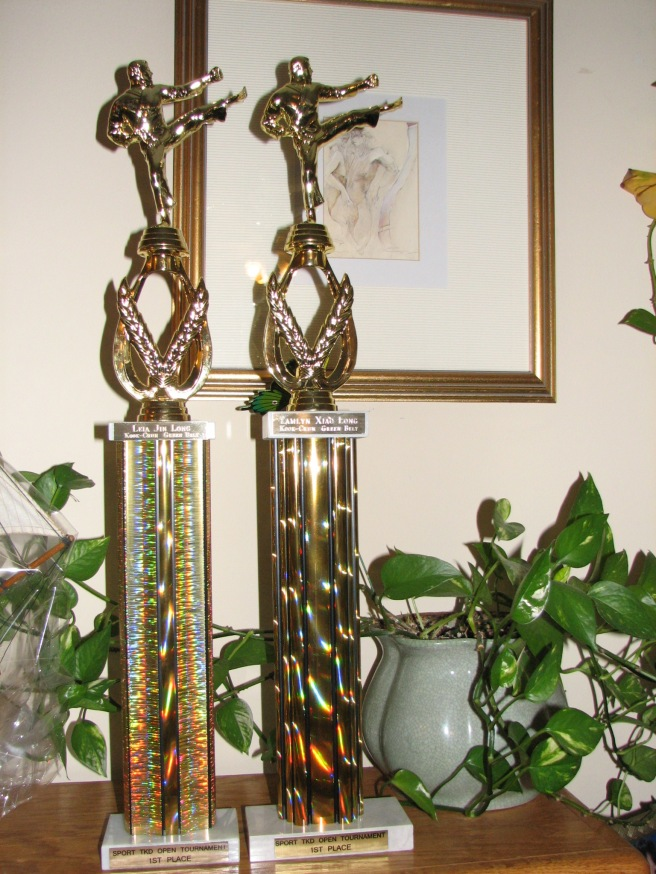 The trophies for first place. © Colline Kook-Chun, 2013