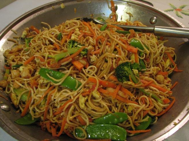 Stir-fried Noodles. © Colline Kook-Chun, 2013