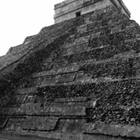Black & White Sunday: Mayan Temple