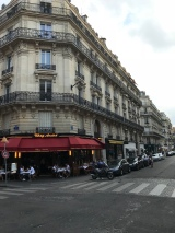 A street corner on the Champs Elysees.