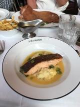 My meal - salmon and potato.