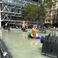 Square in September: Fountain at Georges Pompidou Square