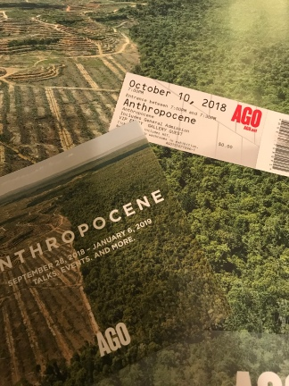 The Anthropocene exhibit.